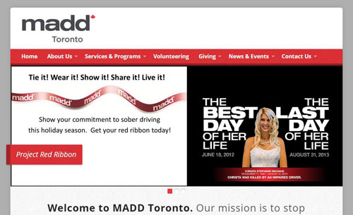 MADD Toronto Chapter website
