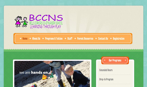 Bells Corners Co-op Nursery School website