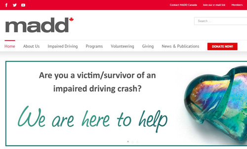 MADD Canada national website
