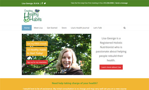 Lisa George's Creating Healthy Habits website