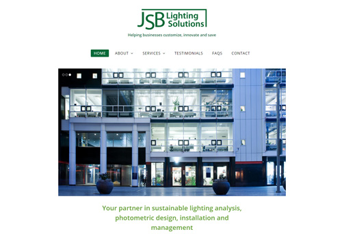 JSB Lighting Solutions website