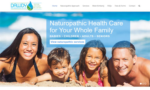 Dawdy Naturopathic Clinic Website