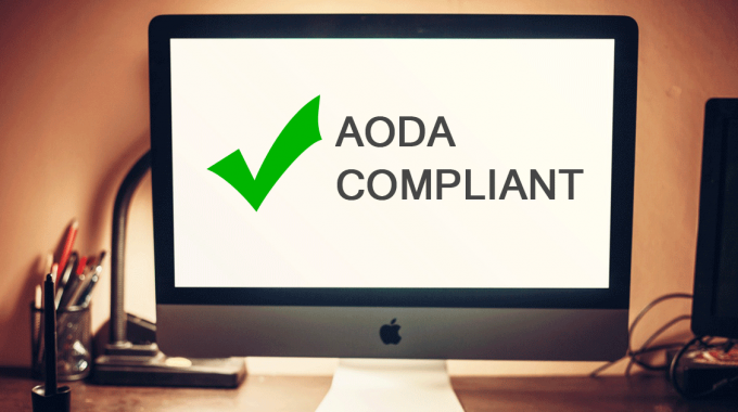 Is Your Site AODA Compliant?