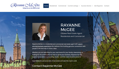 Ottawa City Real Estate website